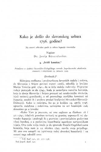 Kako je došlo do slavonskog urbara 1756. godine? Na osnovi arhivalne građe iz arhiva županije virovitičke