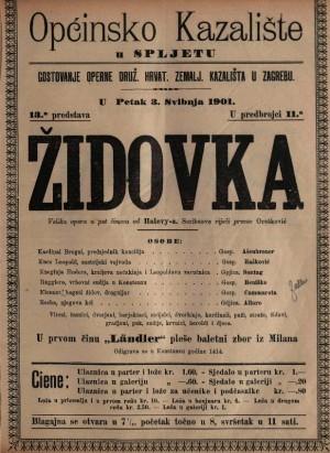 Židovka velika opera u pet činova / od Halevy-a