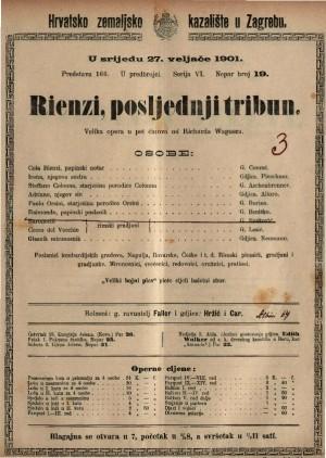 Rienzi, posljednji tribun Velika opera u pet činova / od Richarda Wagnera