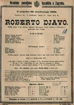 Roberto djavo velika opera u pet činova / uglazbio Meyerbeer