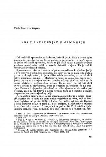 Koš ili kuružnjak u Međimurju / P. Gabrić