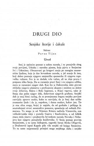 Senjske štorije i ćakule / P. Tijan