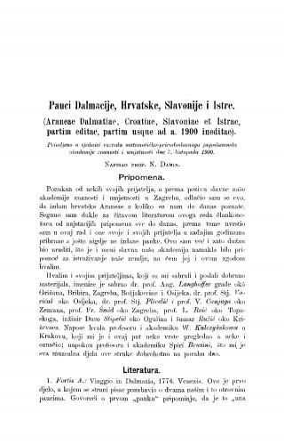 Pauci Dalmacije, Hrvatske, Slavonije i Istre