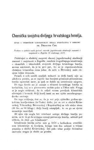 Chemička svojstva divljega hrvatskoga hmelja : RAD