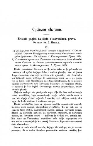Kritički pogled na djela o slavenskom pravu : RAD