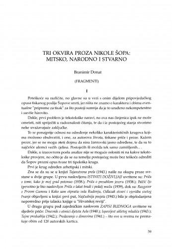 Tri okvira proza Nikole Šopa: mitsko, narodno i stvarno