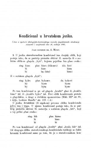 Kondicional u hrvatskom jeziku