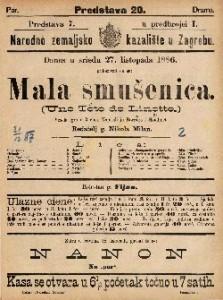 Mala smušenica Vesela igra u 3 čina / Napisali ju Barriere i Gondinet  =  Un Tete de Linotte