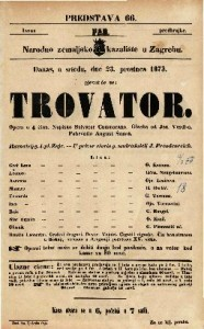 Trovator Opera u 4 čina / Napisao Salvator Cammarano. Glasba od. Jos. Verdi-a