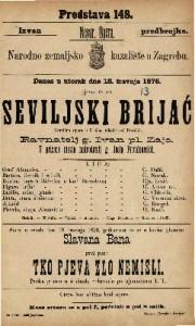 Seviljski brijać komična opera u 2 čina / glasba od Rossinia