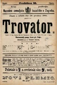 Trovator Opera u 4 čina / Glasba od J. Verdia