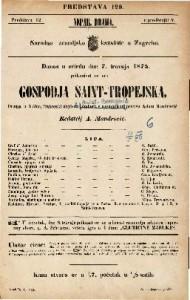 Gospodja Saint-Tropejska Drama u 5 čina / francezki napisao Anicet-Bourgeois