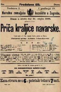 Priča kraljice Navarske : Vesela igra u 5 čina / napisao Scribe
