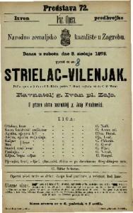 Strielac - vilenjak pučka opera u 3 čina / od F. Kinda