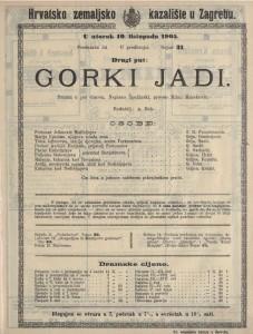 Gorki jadi drama u pet činova / napisao Špažinski