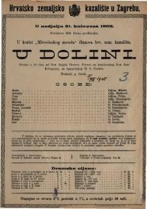 U dolini : drama u tri čina / od Don Angela Gimera