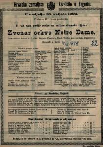 Zvonar crkve Notre Dame : romantična drama u 6 slika / napisala Charlotta Birch-Pfeiffer