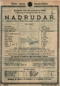 Nadrudar Opereta u 3 čina / glazba od Karl Zellera