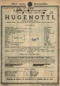 Hugenoti Velika opera u pet činova / uglazbio Giacomo Meyerbeer