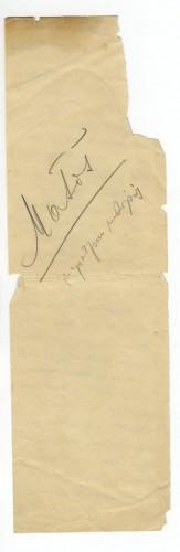 Mileta Jakšić [ulomak autografa članka]
