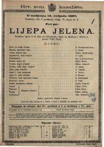 Lijepa Jelena komična opera u tri čina / od Offenbacha