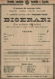 Biserari opera u tri čina / uglazbio Georges Bizet