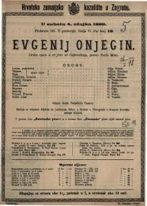 Evgenij Onjegin lirska opera u tri čina / od Čajkovskoga