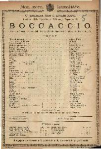 Boccaccio Opereta u 3 čina / Glazba od Suppéa