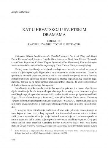 Rat u Hrvatskoj u svjetskim dramama : drugi dio: Razumijevanje i točna ilustracija : Krležini dani u Osijeku