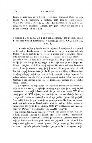 Zakonik Stefana Dušana cara srpskog. 1349 i 1354. Izdao i objasnio Stojan Novaković. U Biogradu 1870 : [književna obznana] : RAD