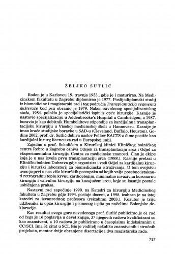 Željko Sutlić : Ljetopis