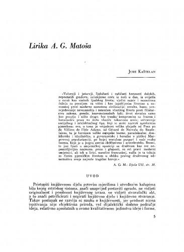 Lirika A. G. Matoša