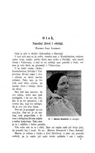 Otok : narodni život i običaji / J. Lovretić, P. Subašić