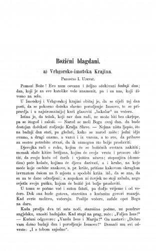 Vrhgorsko-imotska Krajina : božićni blagdani / I. Ujević
