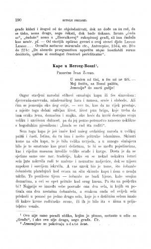 Kape u Herceg-Bosni / I. Zovko