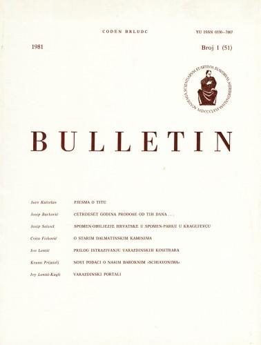 Br. 1(51)1981 : Bulletin Razreda za likovne umjetnosti Jugoslavenske akademije znanosti i umjetnosti