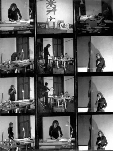 Bućan, Boris (1947-3-15): Priprema Izložbe Bućan-Art, Galerija Studentskog centra, 9.- 24. veljače 1973 [Dabac, Petar (1942-6-19)]