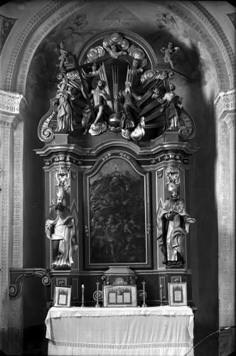 Crkva Svetog Antuna Padovanskog (Lasinja) : oltar Četrnaest Svetih pomoćnika,18. st.