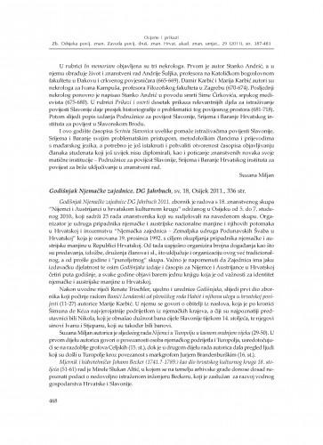 Godišnjak Njemačke zajednice. DG Jahrbuch, sv. 18, Osijek 2011. : [prikaz] : Zbornik Odsjeka za povijesne znanosti Zavoda za povijesne i društvene znanosti Hrvatske akademije znanosti i umjetnosti