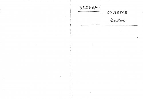 Bergomi Giuseppe Zadar