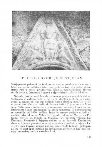 Splitsko groblje Sustjepan : Bulletin Zavoda za likovne umjetnosti Jugoslavenske akademije znanosti i umjetnosti