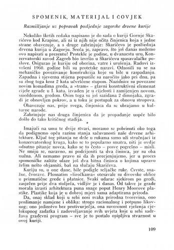 Spomenik materijal i čovjek (Škarićevo) : Bulletin Odjela VII. za likovne umjetnosti Jugoslavenske akademije znanosti i umjetnosti