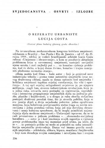 O referatu Lucija Coste : Bulletin Instituta za likovne umjetnosti Jugoslavenske akademije znanosti i umjetnosti