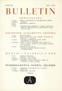 God. 7(1959), Br. 2 : Bulletin Instituta za likovne umjetnosti Jugoslavenske akademije znanosti i umjetnosti