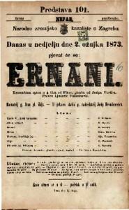 Ernani Romantična opera u 4 čina / od Piave, glasba od Josipa Verdi-a