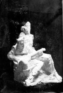 Radauš, Vanja (1906-1975) : Skica za spomenik Petrici Kerempuhu - dvije figure