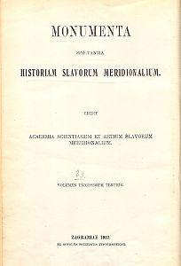 Knj. 1 : Od godine 1526. do godine 1536. : Monumenta spectantia historiam Slavorum meridionalium
