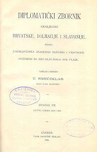 Sv. 7: Listine godina : 1290-1300 : Diplomatički zbornik Kraljevine Hrvatske, Dalmacije i Slavonije