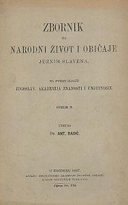 Knj. 2. (1897) : Zbornik za narodni život i običaje
