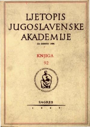 Za godinu 1988. Knj. 92 : Ljetopis